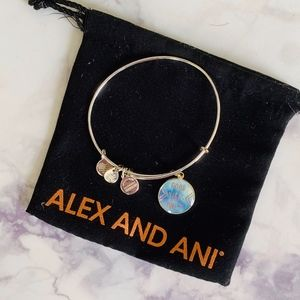 Alex and Ani Good Vibes Only Shiny Silver Bracelet